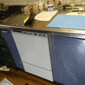 浜松市でリンナイフロントオープン式食器洗い機工事させていただきました。