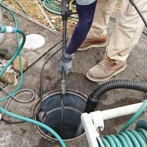 排水つまりで排水管を高圧洗浄しました