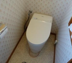 TOTOネオレストトイレ工事です