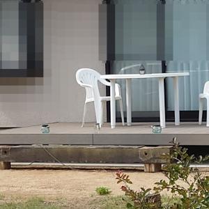 お庭にLIXIL「デッキDS」施工させていただきました