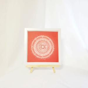 プレゼントに曼荼羅アートをお届けしました。