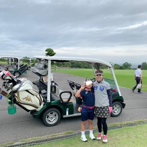 今日はラウンドしてきました☆長女とゴルフ♪