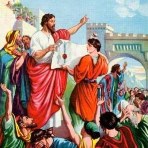 エズラ記 II、 アハスエロスの治世の初期、ユダヤ人に害を加えようとする。