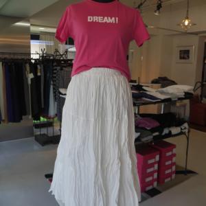 DREAM×MSGMプリントティシャツ×裾チュールワッシャースカート