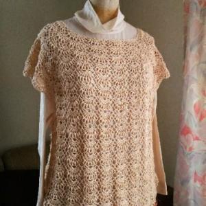 ビューティーシルクコットン松編みプルその後