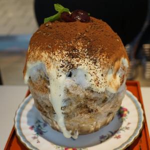 お茶と酒たすき 季節のかき氷  ダークチェリーティラミス  (京都祇園)