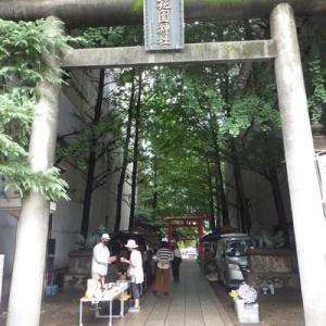 花園神社青空骨董市に行って来た。R2.6.21。