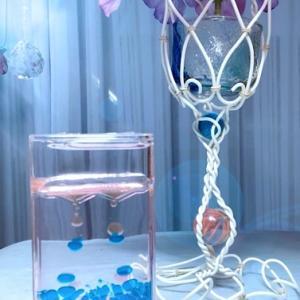 美容室へ飾っていただくインテリア小物は紫陽花スタンド!