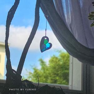 日の出前に目を覚ましたのは。。熱中症?静かな平安を祈ってブルーハートのクリスタルを!
