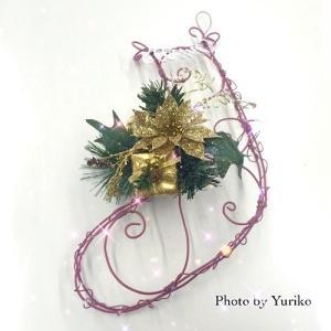 NIPPOLYのクリスマス用サービスレシピでサンタのフレームソックスを作ってみて〜!