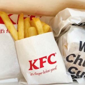 KFCドライブスルーひさびさ♪和風チキンカツサンドとザ・ガーリックチキン♪何気にKFCのアップルパイがうまい(^_-)-☆