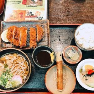住ノ江駅構内のお蕎麦屋さんで♪とんかつ定食お蕎麦付き!