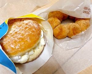久しぶりにミスド♡misdo meets BAKE ベイクチーズホイップとポンデリングの黒糖