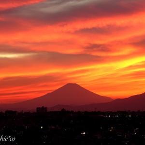 *窓の向こうの夕焼けの風景。。♪