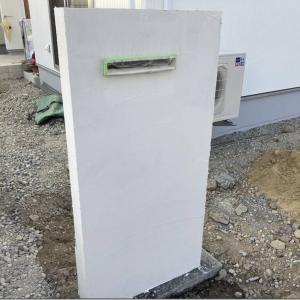 門柱とスキ土と土間打設