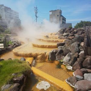 小浜温泉:散策とほっとふっと105(足湯)