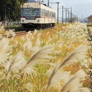 行く秋の路(富山地方鉄道)