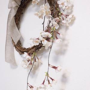 #うち花見 しだれ桜のリースでどうぞ