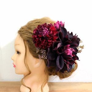 リニューアルして再販!ボルドーダリアのヘッドドレスが素敵すぎる!
