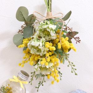 人気のミモザスワッグの花材が入荷しましたよー