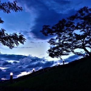 秋風の夕景 あさひ山展望公園(短) 2021-08-09