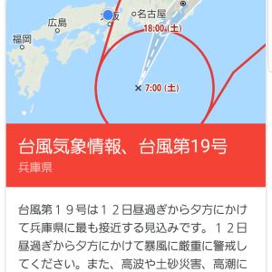 大型台風警報&Englishカフェキャンセルについて