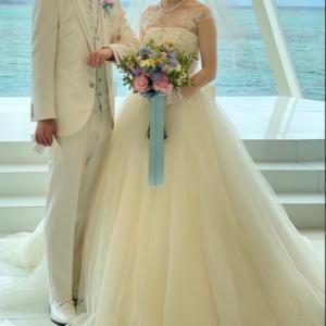 ウェディングドレスのお譲り情報 ウェディングドレス・オーバースカート・ボレロ付き