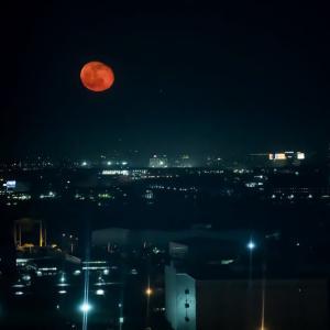 赤い月夜 お台場にて!