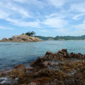 今日の講座は海のきれいな浦富でした