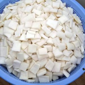 松本市炊き出し隊「みらい」の長野市でのボランティアにカクテキ提供