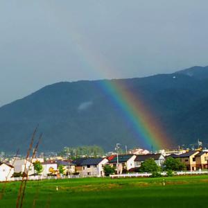 虹が見えるシーズン
