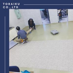某大学研究室♡床張り替え(サンゲツ長尺フロアシート)