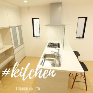 新築✨導線の良い対面キッチン