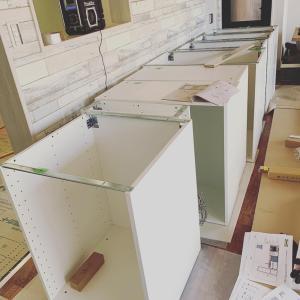 岐阜県多治見市 IKEAキッチン組み立て作業
