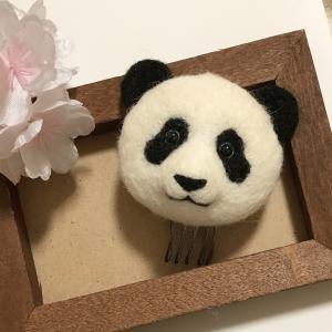 パンダのヘアアクセサリー