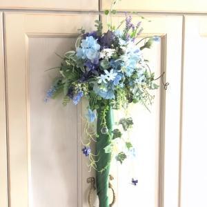 紫陽花のアンブレラブーケ(パラソルブーケ)お披露目です!