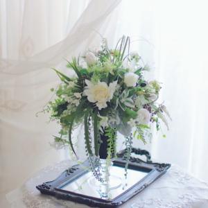 軽井沢の別荘の花!制作しました!