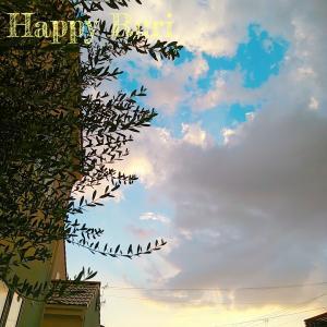 夏の夕方の空