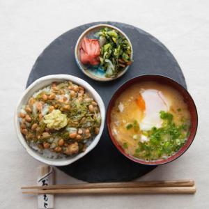 めかぶ納豆定食