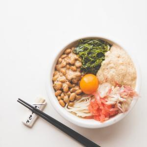 めかぶ納豆とろろイカ明太ぶっかけ温麺