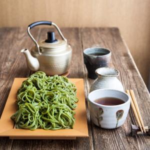 ぜいたく茶そば(はたけなか製麺)