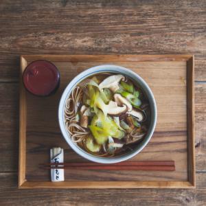椎茸葱蕎麦