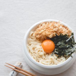 釜玉ぶっかけ温麺