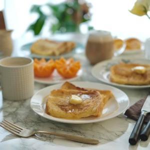 【朝食】フレンチトーストなモーニング