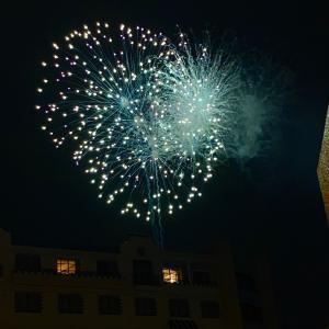 アンバの中庭から観た花火♪