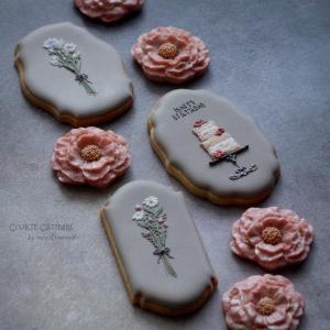 お花やケーキのクッキー