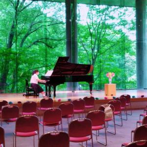 音楽ホールの発表会終了