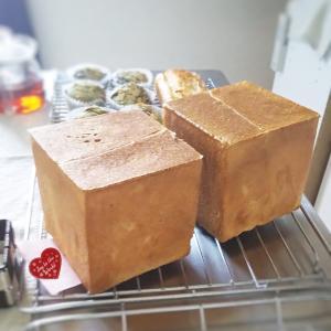 1斤食パンと米粉のベイクドチーズ風ケーキと米粉とお豆腐の抹茶マフィン
