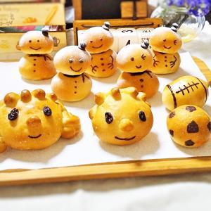 親子パン教室の試作パン