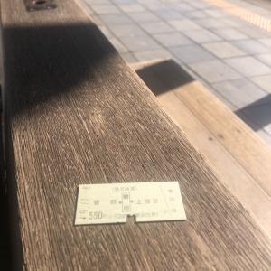 堅い紙の切符